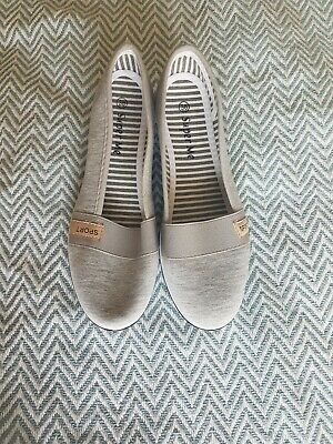 Grey Trainer-style Cotton Wedge Pumps In Size 39/5.5 • 12£