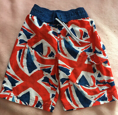 Boys Union Jack Swim Shorts By George Age 5 - 6 Years • 1.99£