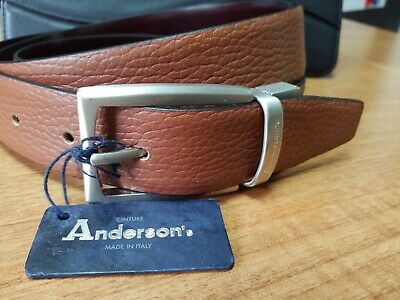 Anderson's ITALIAN  Belt - Grained Brown Leather 46 /120cm RRP £93 NEW  • 24.99£