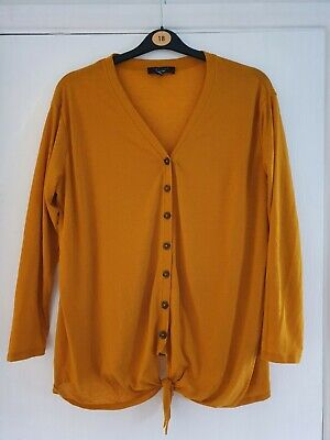 New Look Curves Mustard Top 18 • 1.10£