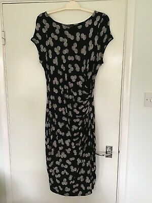 Phase Eight Size 16 Black And White Cap Sleeve Dress • 7.30£