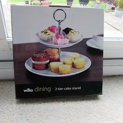 Wilko 2 Tier Cake Stand - Never Used Still In Box • 1.60£