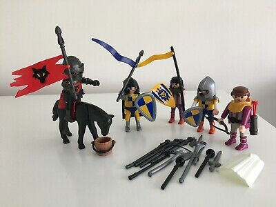 Playmobil Knights,Bowman, Horse, Flags And Weapons • 8£
