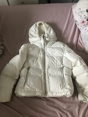Girls Ralph Lauren 100% Down & Feather Puffer Coat Cream Size L Age 12-14 Years • 16£