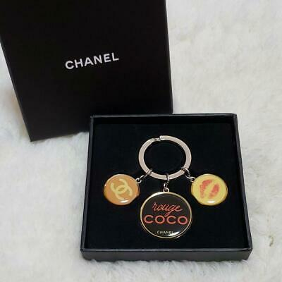 £74.62 • Buy CHANEL Key Ring Charm Rouge Coco From Japan