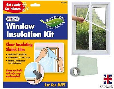 £3 • Buy Window Insulation Kit Double Glazing Shrink Film Draught Excluder Cold Frost UK