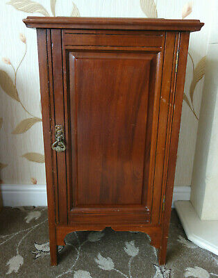 Antique Mahogany Bedside Cabinet Pot Cupboard  • 40£
