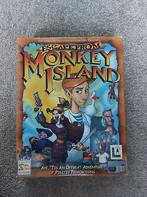 Escape From Monkey Island Pc Big Box Only • 2.20£