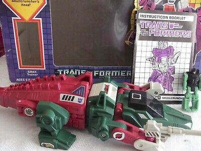 Vintage Transformers G1 Skullcruncher 1986 Decepticon - Boxed With Instructions • 46£
