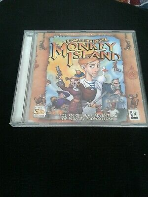 Escape From Monkey Island  Cd-rom(used) Untested • 11£