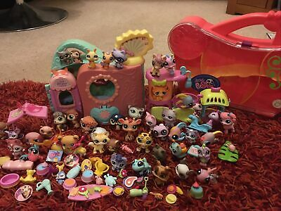 Littlest Pet Shop Bundle: Over 40 Figures,accessories, Carry Box And Play Sets • 13£