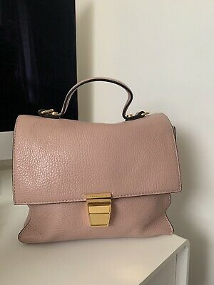 Coccinelle Small Leather Pink Cross Body Satchel Bag • 80£