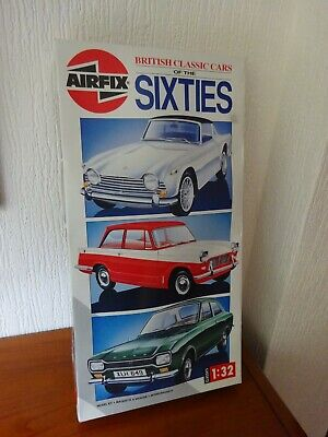 AIRFIX  Plastic Kits - BOX SET OF 3  - 1:32 Scale - CLASSIC CARS Of The 60's. • 95£