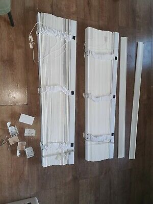Wooden Verticle Blinds. White. For French Doors Patio Doors. 41 Inches • 37£