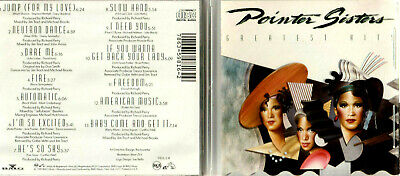 CD - POINTER SISTERS GREATEST HITS - JUMP - NEUTRON DANCE - I NEED YOU Etc. • 6.99£