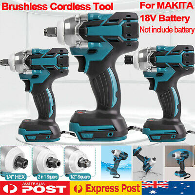 AU56.99 • Buy Cordless Brushless Impact Wrench Driver Tool Replace Body For Makita 18V Battery