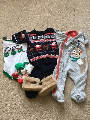 Bundle Of Baby Boy Christmas Clothes 3/6 Months • 3.50£
