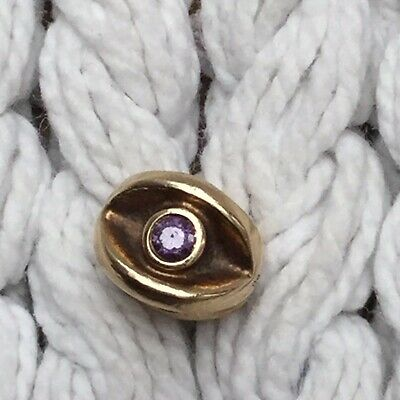 Authentic Genuine Pandora 14ct Gold 585 Ale Pink Cz Eye Charm Retired • 29.99£