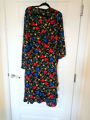 Beautiful Ladies PAPAYA Floral Dress. Size 16 • 4£