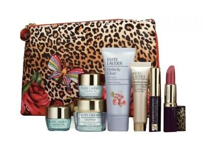 XMAS Estee Lauder 9 PCS PRADISE GIFT Set Primer, Cream, Lipstick+more Worth £100 • 26.99£