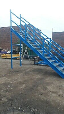 Steel Self Standing Fire Escape/mezz Floor Or Other 102in To Top Step • 1,000£