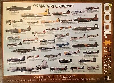 Eurographics 1000 Piece Jigsaw Puzzle World War II Aircraft Excellent Condition. • 5£