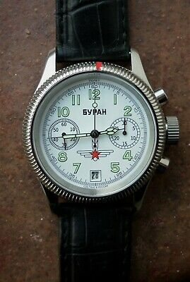 Russian Chronograph Buran Manual Wind Cal. Poljot 3133 (Pristine Condition). • 305£