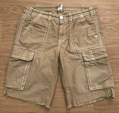 Once Worn Men's Vintage True Religion Cargo Shorts. Waist 36-38. RRP £199 • 95£