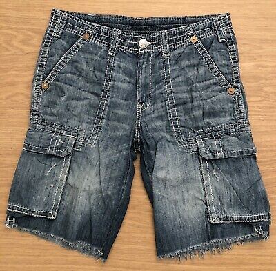 Lightly Worn Men's True Religion Cargo Shorts. Waist 36. RRP £199 • 95£