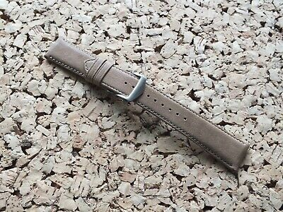 Genuine Leather Natural Grain Deployment Watch Strap 22-18mm Buff By Geckota • 3.99£