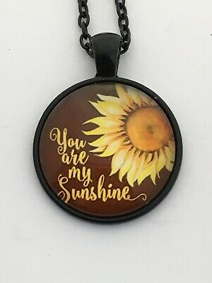 YOU ARE MY SUNSHINE  Cabochon Necklace    UK Seller         B22  • 4.12£