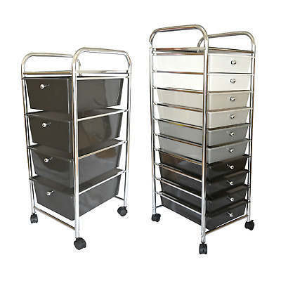 £33.95 • Buy Mobile Storage Trolley On Wheels With Drawers Portable Home Office Beauty Salon