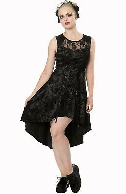 Gothic Punk Black Vampire Lace Roses Corset Skull Candy Dress By BANNED Apparel • 45.99£