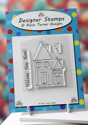 New Home Clear Rubber Stamp Houses Cardmaking Craft Welcome • 3.50£