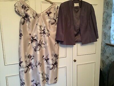 Jacques Vert Size 18 Lilac Purple Dress And Jacket Wedding/Occasion • 70£