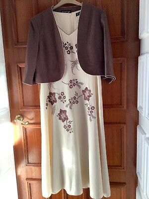 Jacques Vert Size 18/20 Dress And Jacket Wedding/Occasion • 45£