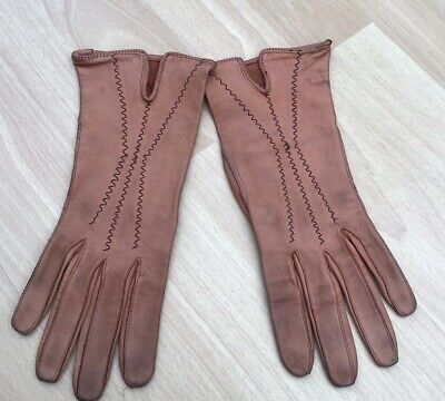 CC41 Utility Brown Leather Gloves Small • 10£