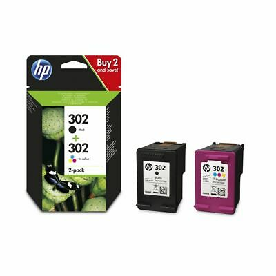 HP 302 Black And Tri-Colour Original Ink Cartridges Combo Pack - Brand New • 29.99£