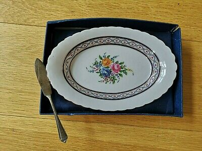 Regal Bone China Collection Chloe Dish With Silver Server • 9.99£