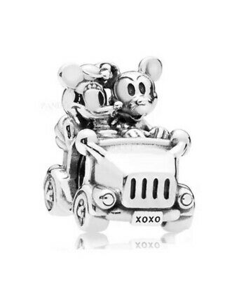 Disney Mickey And Minnie Mouse Car Charm For Gnoce Style Bracelets Gift... • 6£