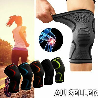 AU11.40 • Buy Knee Compression Sleeve Support Brace Strap Patella Leg Protector Running Sports