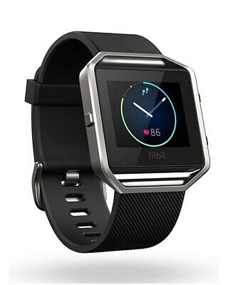 AU76.99 • Buy Fitbit Blaze Smart Fitness Watch - Black Band, Stainless Steel Frame. Large