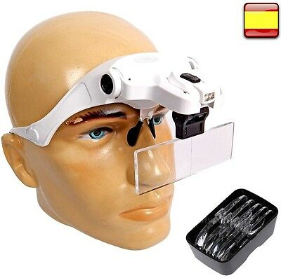 Visor With Magnifying Glass Binocular And Focus Adjustable More Lens Of Light • 26.10£