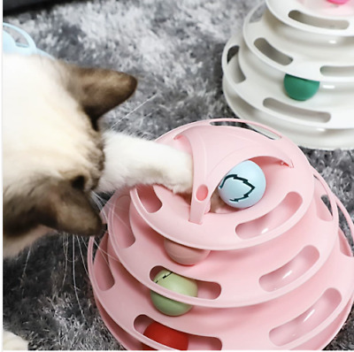 AU15.95 • Buy Funny Cat Toy Plastic Tower Interactive Track Ball Playing Game