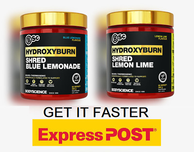 AU87.95 • Buy Bsc Hydroxyburn Shred Fat Burner / Weight Loss Oxyshred Twin Pack Express
