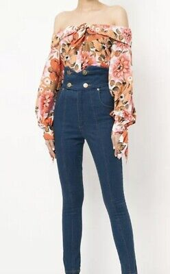 AU60 • Buy ALICE McCALL Love Me Floral Print Blouse Shirt Top Off The Shoulder
