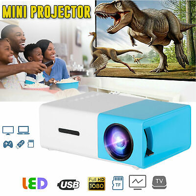 YG300 1080P Home Theater Cinema USB HDMI AV SD 3D Mini Portable HD LED Projector • 34.48£