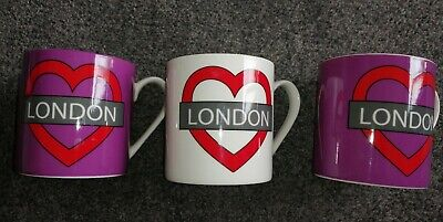 3 X Mugs/Cup By Ben De Lisi London Mug Fine China VGC • 9.99£