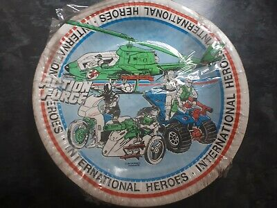 9  Paper Plates International Heroes Action Force 6 In Pack Youngsley.  French • 0.99£
