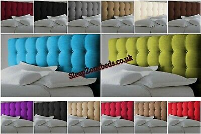 Top Quality Cube Bed Headboard In Chenille Fabric Single D K SK Height 26  30 UK • 31.99£